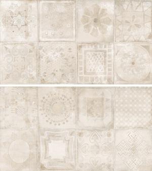 Novogres Novaterra Decor Calador Arena 33,3x60 , Bathroom, Patchwork style style, Concrete effect effect, Glazed porcelain stoneware, wall & floor, Matte surface, Non-rectified edge, Shade variation V4