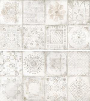 Novogres Novaterra Decor Calador Blanco 33,3x60 , Bathroom, Patchwork style style, Concrete effect effect, Glazed porcelain stoneware, wall & floor, Matte surface, Non-rectified edge, Shade variation V4