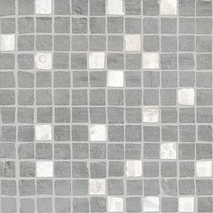 Novogres Novaterra Mosaico Liceo Gris , Bathroom, Patchwork style style, Concrete effect effect, Glazed porcelain stoneware, wall & floor, Matte surface, Non-rectified edge, Shade variation V4