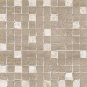 Novogres Novaterra Mosaico Liceo Marrón , Bathroom, Patchwork style style, Concrete effect effect, Glazed porcelain stoneware, wall & floor, Matte surface, Non-rectified edge, Shade variation V4