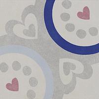 Pamesa Agatha 15.826.118.5019_VIA Agatha Navi 22,3x22,3 , Salle de bain, Séjour, style Style designer, style Espaces enfants, Agatha Ruiz de la Prada, Effet imitation carreaux de ciment, Unicolore, Céramique, revêtement mur et sol, Surface brillante, Surface mate, Bord non rectifié, Variation de nuances V1, V3