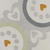 Pamesa Agatha 15.826.350.5019_VIA Agatha Garden 22,3x22,3 , Salle de bain, Séjour, style Style designer, style Espaces enfants, Agatha Ruiz de la Prada, Effet imitation carreaux de ciment, Unicolore, Céramique, revêtement mur et sol, Surface brillante, Surface mate, Bord non rectifié, Variation de nuances V1, V3