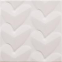 Pamesa Agatha 27.589.12.5017_AGATHA Mille Cuori Blanco , Salle de bain, Séjour, style Style designer, style Espaces enfants, Agatha Ruiz de la Prada, Effet imitation carreaux de ciment, Unicolore, Céramique, revêtement mur et sol, Surface brillante, Surface mate, Bord non rectifié, Variation de nuances V1, V3