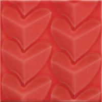 Pamesa Agatha 27.589.195.5017_AGATHA Mille Cuori Carmin , Salle de bain, Séjour, style Style designer, style Espaces enfants, Agatha Ruiz de la Prada, Effet imitation carreaux de ciment, Unicolore, Céramique, revêtement mur et sol, Surface brillante, Surface mate, Bord non rectifié, Variation de nuances V1, V3
