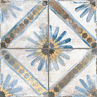 Peronda FS by Peronda 21936_FsMarrakechBlue , Patchwork style style, Designer style style, Francisco Segarra, Public spaces, Living room, Kitchen, Terracotta effect effect, Wood effect effect, Stone effect effect, Ceramic Tile, Glazed porcelain stoneware, wall & floor, Matte surface, Slip-resistance R10, R11, Semi-polished surface, Rectified edge, non-rectified edge, PEI IV, PEI II, PEI V, Shade variation V3, V2