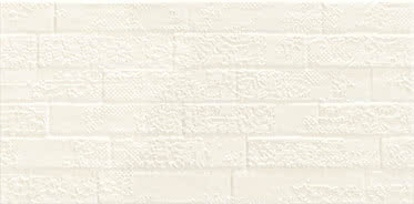 Ceramiche Piemme Satin MRV262_SatinAvorioArt_31*62,2 , Bathroom, Designer style style, Valentino, Brick effect effect, Ceramic Tile, wall, Matte surface, non-rectified edge, Rectified edge, Shade variation V1
