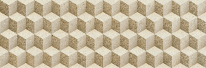 Porcelanite Dos 7514 7514 Beige 25x75 Relieve , Bathroom, Stone effect effect, 3D effect effect, Ceramic Tile, wall, Matte surface, non-rectified edge