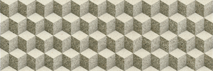 Porcelanite Dos 7514 7514 Gris 25x75 Relieve , Bathroom, Stone effect effect, 3D effect effect, Ceramic Tile, wall, Matte surface, non-rectified edge
