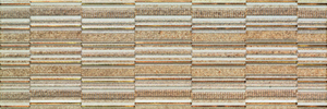 Porcelanite Dos 7514 Decor 7514 Beige 25x75 Lineal Living , Bathroom, Stone effect effect, 3D effect effect, Ceramic Tile, wall, Matte surface, non-rectified edge