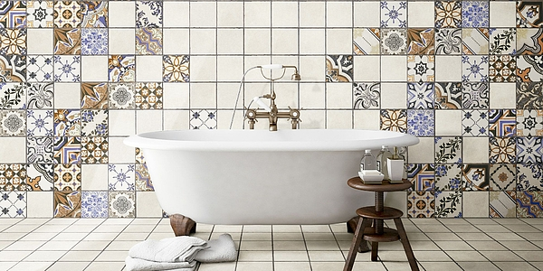Realonda Evora 0 Bathroom Patchwork Style Unglazed Porcelain