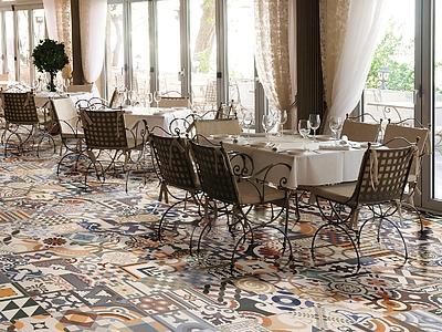 Piastrelle in gres porcellanato patchwork di realonda tile