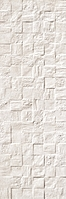 Revigres Nimbus 3101G874C1_NimbusBlockOffwhiterect_30*90 , Bathroom, Kitchen, Patchwork style style, Concrete effect effect, 3D effect effect, Ceramic Tile, wall, Matte surface, Rectified edge, non-rectified edge, Shade variation V3