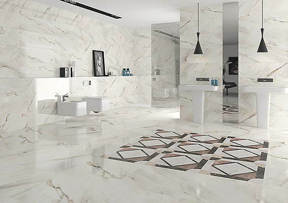 Calacatta Porcelain Tiles By Roca Tile Expert