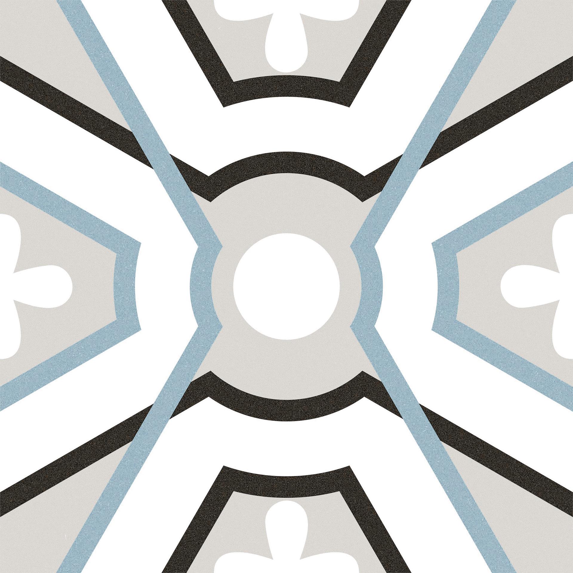 Carrelage More de Self, Grès cérame émaillé, 20x20 cm, Surface mate, Effet imitation carreaux de ciment, Teinte multicolore,