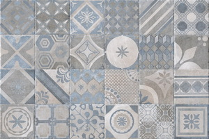 Serenissima Cir Industrie Ceramiche New Orleans 1049585_FrenchQuart.Bourbon20X20 , Patchwork style style, Provence style style, Handmade style style, Pop-art style style, Stone effect effect, Concrete effect effect, Brick effect effect, Kitchen, Spaces for children, Bathroom, Outdoors, Public spaces, PEI IV, Glazed porcelain stoneware, wall & floor, Slip-resistance R10, R11, non-rectified edge, Shade variation V2, V4