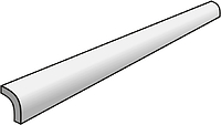 Settecento Traces 14801-_QuarterRoundBianco1,2*28 , Bathroom, Stone effect effect, Wood effect effect, PEI IV, Glazed porcelain stoneware, wall & floor, Matte surface, non-rectified edge, Shade variation V2, V3