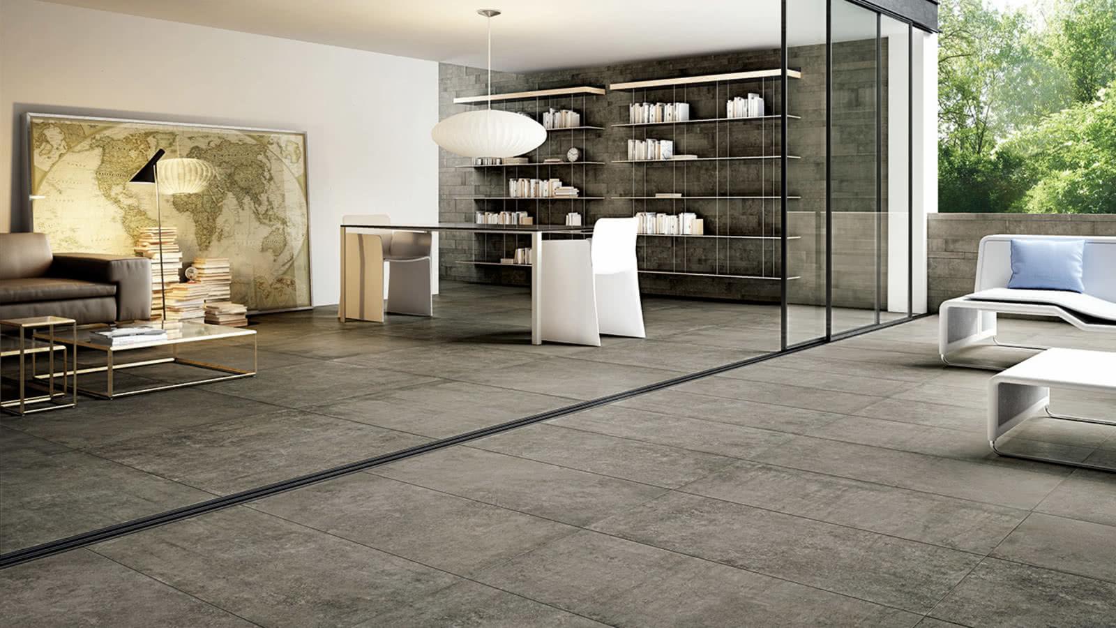 Ceramic limestone tiles