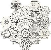 Tonalite Examatt EXAMIX.BI_Decoro Mix Bianco Matt , Cuisine, Espace public, style Style patchwork, Grès cérame émaillé, revêtement mur et sol, Surface mate, bord non rectifié