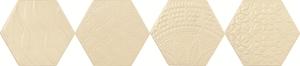 Tonalite Examatt EXAREL.AVM_DECORO RELIEF AVORIO MATT , Cuisine, Espace public, style Style patchwork, Grès cérame émaillé, revêtement mur et sol, Surface mate, bord non rectifié
