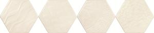 Tonalite Examatt EXAREL.BIM_DECORO RELIEF BIANCO MATT , Cuisine, Espace public, style Style patchwork, Grès cérame émaillé, revêtement mur et sol, Surface mate, bord non rectifié