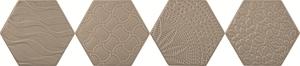 Tonalite Examatt EXAREL.SAM_DECORO RELIEF SAND MATT , Cuisine, Espace public, style Style patchwork, Grès cérame émaillé, revêtement mur et sol, Surface mate, bord non rectifié