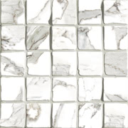 Vallelunga Ceramica Calacatta G204000_CalacattaVi.Mos.30X30 , Bathroom, Designer style style, Giovanni Barbieri, Stone effect effect, PEI IV, Glazed porcelain stoneware, wall & floor, Semi-polished surface, Polished surface, Rectified edge, Shade variation V3
