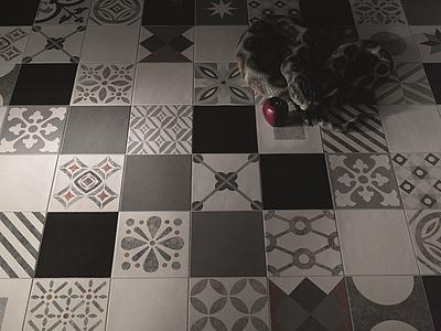 Piastrelle in gres porcellanato cementine di valmori tile expert