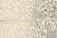 Versace Ceramics Gold 00688020_CremaPatchworkMix , Designer style style, Versace, Living room, Bathroom, Wood effect effect, Glazed porcelain stoneware, Ceramic Tile, floor, wall, Glossy surface, non-rectified edge