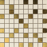 Versace Ceramics Gold 00689020_MosaicoCrema/Oro , Designer style style, Versace, Living room, Bathroom, Wood effect effect, Glazed porcelain stoneware, Ceramic Tile, floor, wall, Glossy surface, non-rectified edge