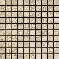 Versace Ceramics Gold 00689110_MosaicoPatch.Crema , Designer style style, Versace, Living room, Bathroom, Wood effect effect, Glazed porcelain stoneware, Ceramic Tile, floor, wall, Glossy surface, non-rectified edge
