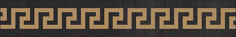 Versace Ceramics Gold 00689370_List.LegnoGrecaAntr , Designer style style, Versace, Living room, Bathroom, Wood effect effect, Glazed porcelain stoneware, Ceramic Tile, floor, wall, Glossy surface, Non-rectified edge