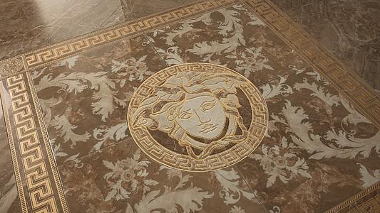Marble di versace tile expert rivenditore di for Pavimento versace