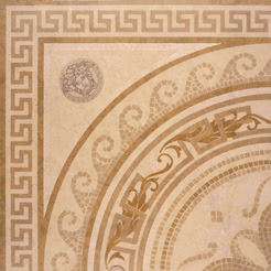 Versace Ceramics Palace 14706_RosoneMos.BeigeLev. , Living room, Bathroom, Bedroom, Designer style style, Versace, Stone effect effect, Glazed porcelain stoneware, Ceramic Tile, floor, wall, Matte surface, non-rectified edge