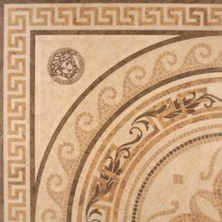 Versace Ceramics Palace 14709_RosoneMos.NeroLev. , Living room, Bathroom, Bedroom, Designer style style, Versace, Stone effect effect, Glazed porcelain stoneware, Ceramic Tile, floor, wall, Matte surface, non-rectified edge