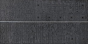 Viva Ceramica No Code Lavagna 97YA9RC_15X60MacrameantraciteRetL , Outdoors, Living room, Stone effect effect, Glazed porcelain stoneware, wall & floor, Slip-resistance R10, R11, Rectified edge, Shade variation V3