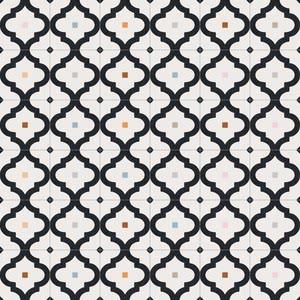 Vives Maori Ladakhi Grafito , Kitchen, Bathroom, Faux encaustic tile effect, PEI III, Glazed porcelain stoneware, wall & floor, Matte surface, non-rectified edge