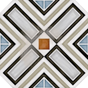 Vives Azulejos y Gres Vodevil Octogono Ritter Multicolor_G156 , Victorian style style, Patchwork style style, Kitchen, Living room, Glazed porcelain stoneware, Ceramic Tile, wall & floor, Matte surface, non-rectified edge, Unicolor